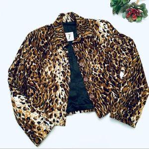 Todd Oldham Vintage Leopard Blazer Jacket S